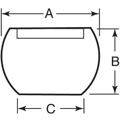 Diagram - Knobs - Ball - Threaded - Recessed Top