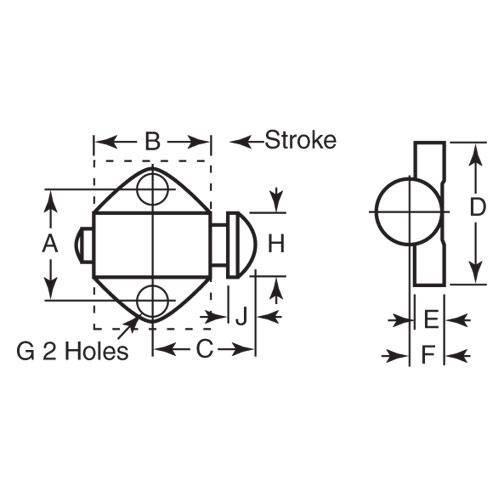 Diagram - Stops - Spring - Round Steel Nose