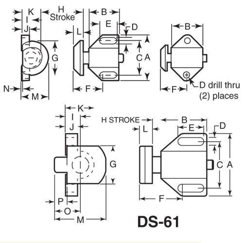 Diagram - Stops - Spring - Flat Button