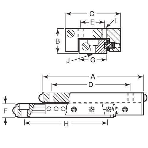Diagram - Linear Slide Assemblies - Cross Roller