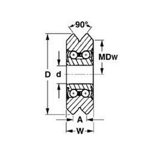 Diagram - Dual Vee - Guide Wheels