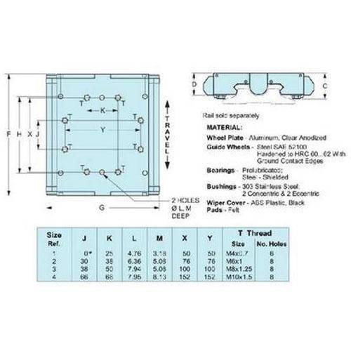 Diagram - Dual Vee - Wheel Plate Assembly - Wiper