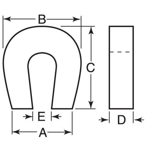 Diagram - Magnets - Alnico - Pocket Magnet