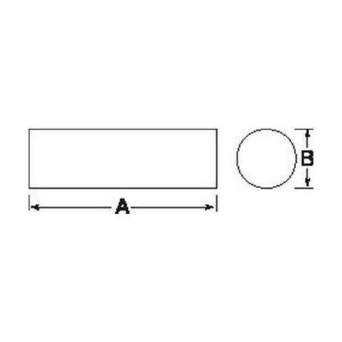 Diagram - Magnets - Alcomax - Cylindrical Bar