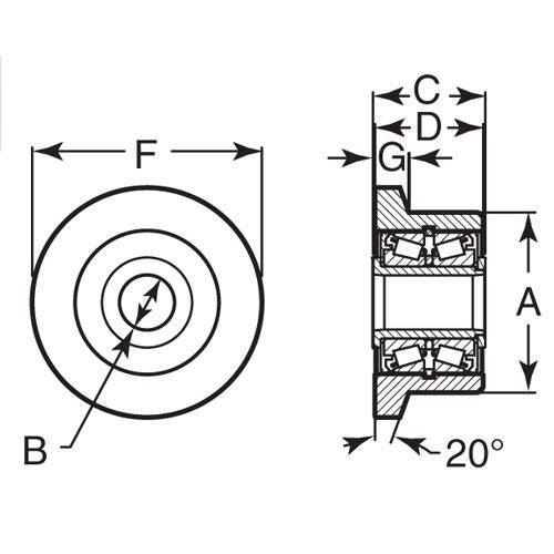 Diagram - Rollers - Flanged