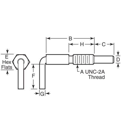 Diagram - Plungers - Spring - L Handle - Non Locking - Steel
