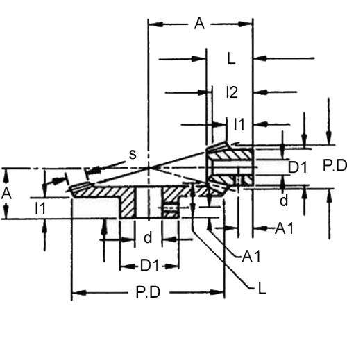 Diagram - Gears - Bevel - Module 1 - Steel