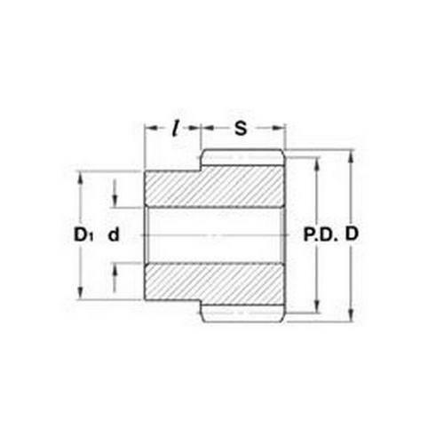 Diagram - Gears - Helical - Module 1 - Steel