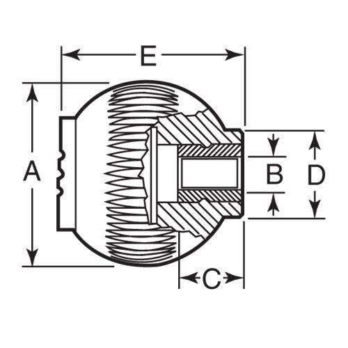 Diagram - Knobs - Ball - Novo-Grip - Female
