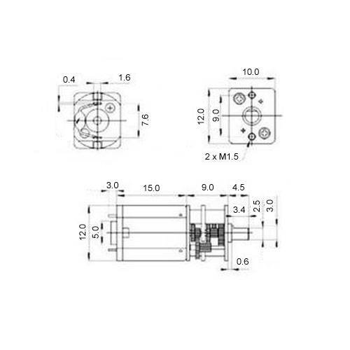 Diagram - Gearmotors - Open Gear