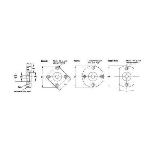 Diagram - Housings - Bearing - Single Assembly