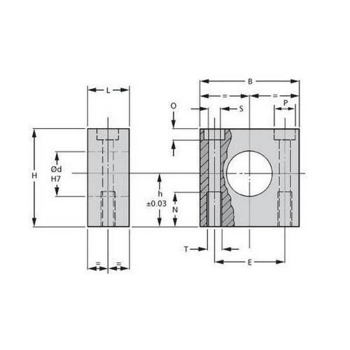 Diagram - Housings - Bearing - Square - Miniature
