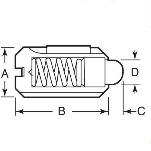 Diagram - Plungers - Spring - Threaded - Stainless and Plastic