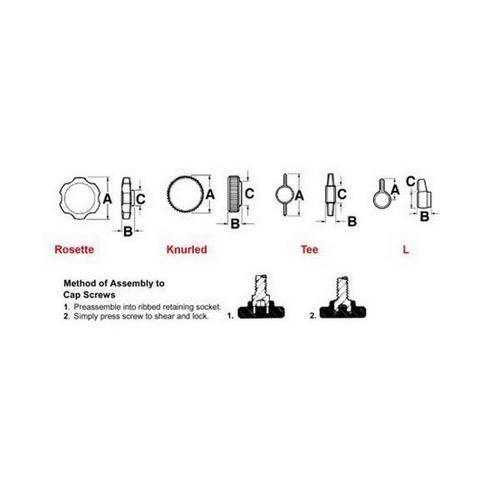 Diagram - Knobs - Thumb - For Cap Screws