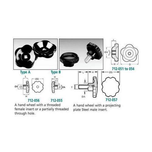 Diagram - Knobs - Valve and Handwheels