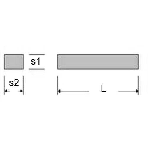 Diagram - Rectangular Bar - Brass