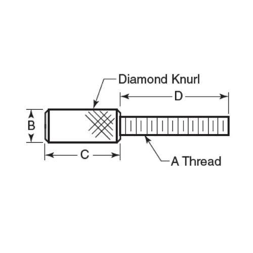 Diagram - Screws - Thumb - Knurled  - Stainless - Precision Head