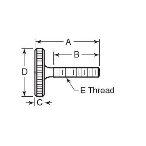 Diagram - Screws - Thumb - Knurled  - Stainless - Slim Head