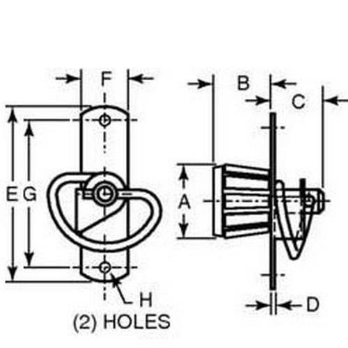 Diagram - Latches - Spring - Knob Style