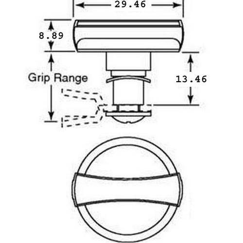 Diagram - Latches - Wing Knob - Black Polymide - Non Locking