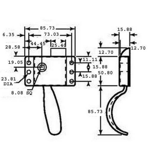 Diagram - Handles - Latching - Cab Locks