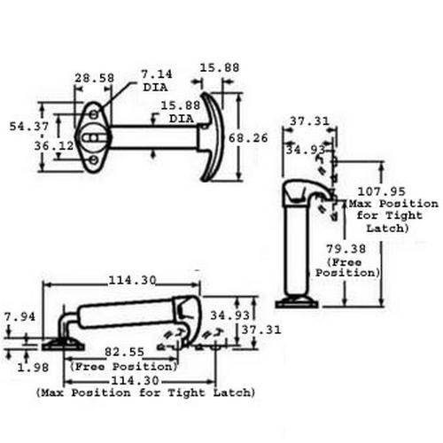 Diagram - Latches - Spring Loaded