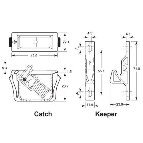 Diagram - Catches - Snap In Style - Grabber -tm-
