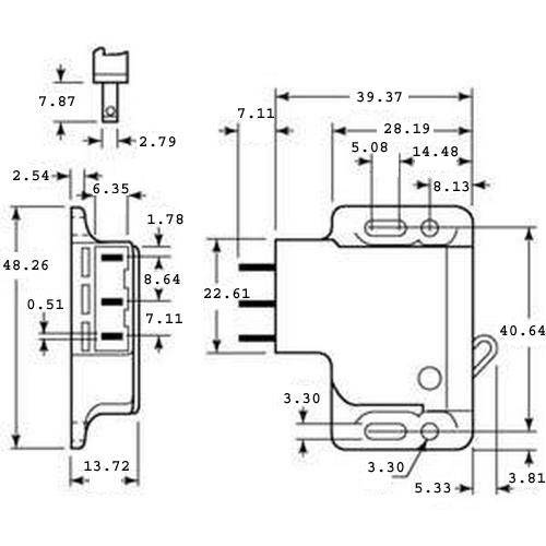 Diagram - Catches - Side Mount - With Microswitch - Grabber -tm-