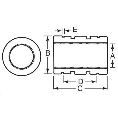 Diagram - Bearings - Linear - Sliding - Stainless - PTFE - Closed