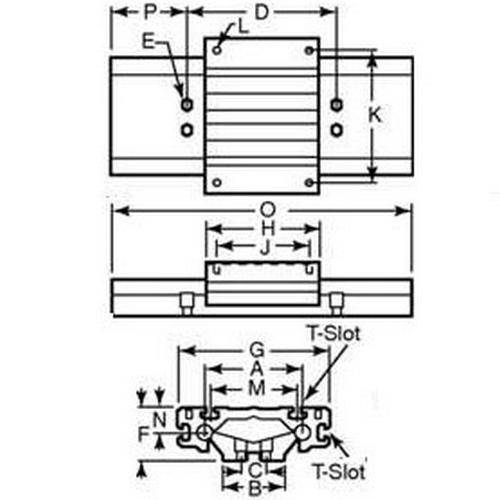 Diagram - Linear Guide System - Two Piece
