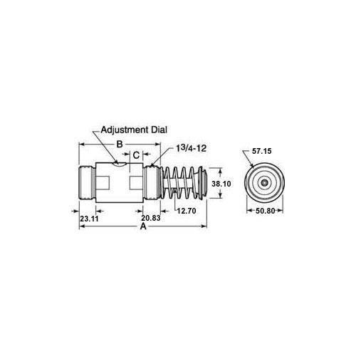 Diagram - Shock Absorbers - Hydraulic - Adjustable - Low Profile