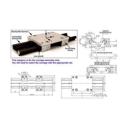 Diagram - Linear Slide - Drylin - Carriage Assembly