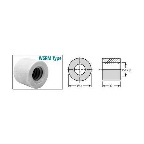 Diagram - Leadscrew Nuts - Metric - Round - Plastic - Iglidur W300