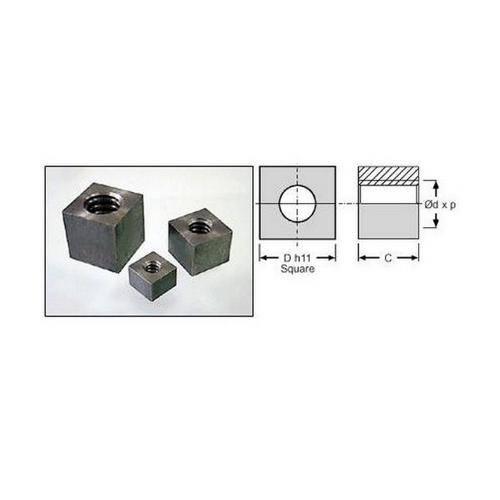 Diagram - Leadscrew Nuts - Metric - Square - Metallic