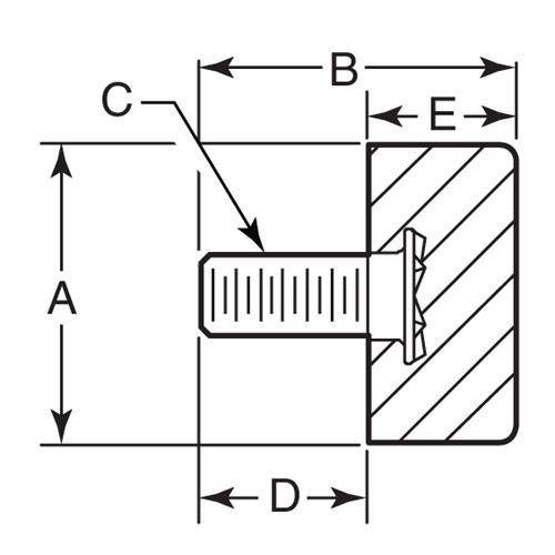 Diagram - Bumpers - Cylindrical - Rubber