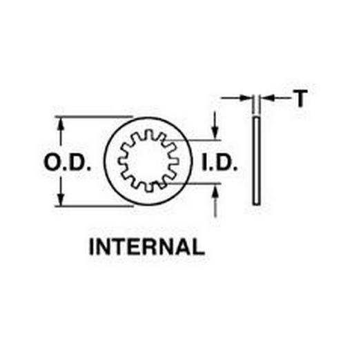 Diagram - Washers - Lock - Internal Tooth - Spring Steel