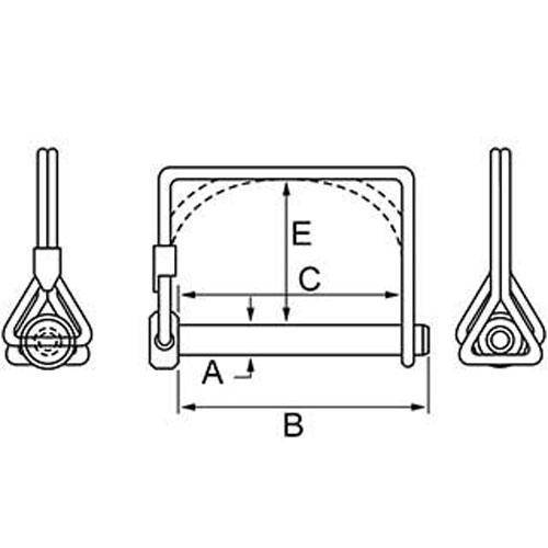 Pins - Wire Lock Lynch - Double Wire - Round