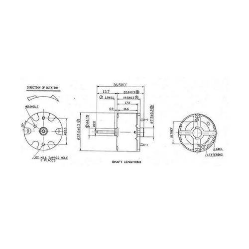 Diagram - Motors - DC 32.0x16.6 mm