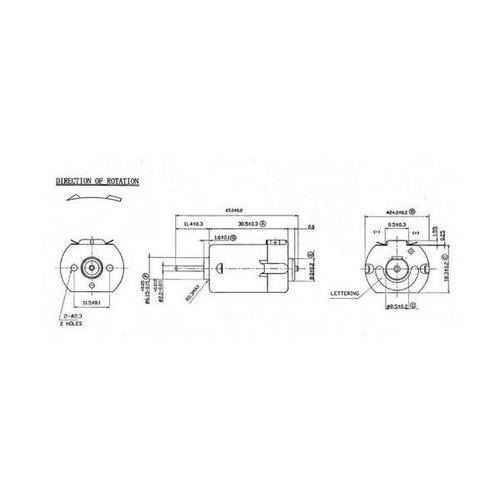 Diagram - Motors - DC 30.5X24.2X18.3 mm