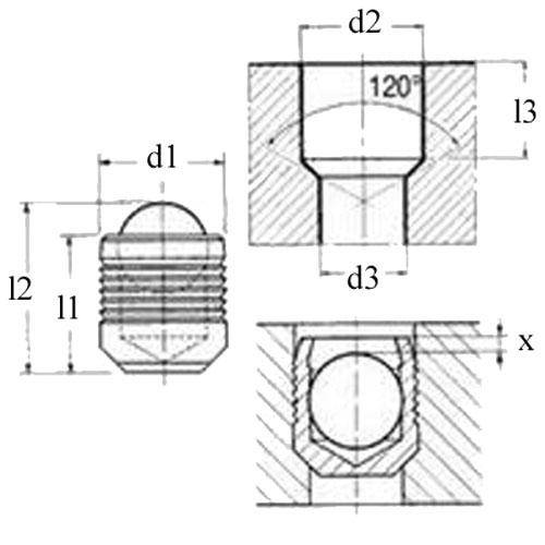 Diagram - Sealing Plugs - Stainless Sleeve with Hardened Ball