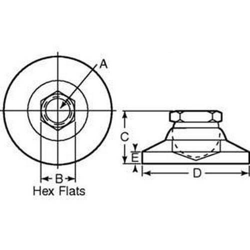 Diagram - Mounts - Leveling - Socket - Clear Chromate - Swivel
