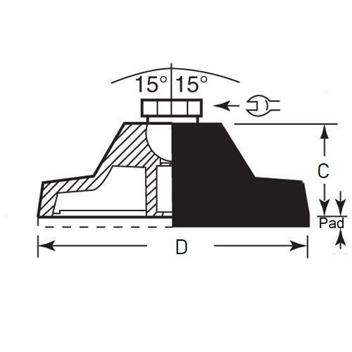 Diagram - Mounts - Leveling - Nylon - Socket Type - No Lag Holes