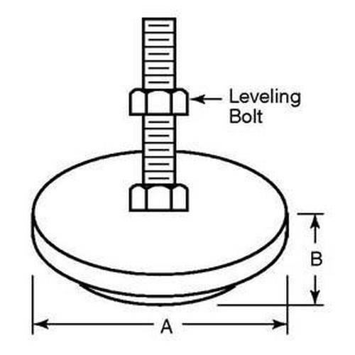 Diagram - Mounts - Anti-Vibration - 303 Stainless Steel