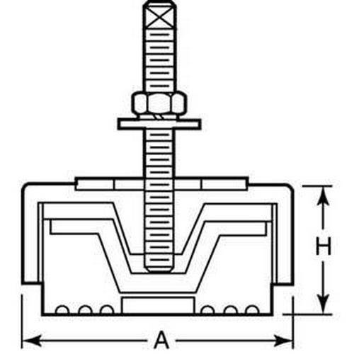 Diagram - Mounts - Vibration - Isolation Pads - Compression Shear