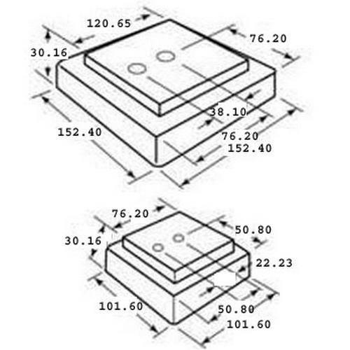Diagram - Mounts - Leveling - Machine - Cushioned