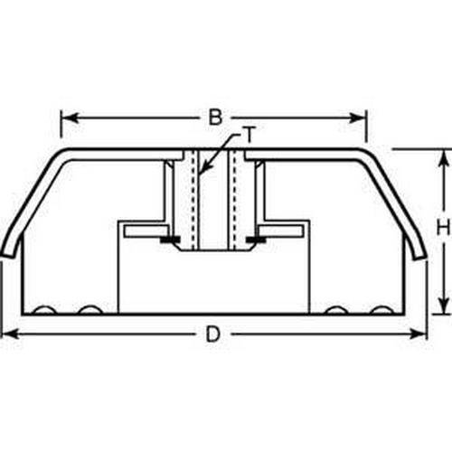 Diagram - Mounts - Vibration - Isolation - Compression - Stainless Steel