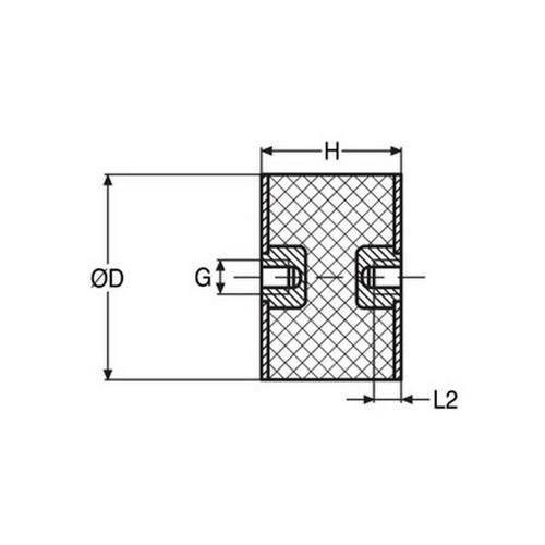 Diagram - Mounts - Cylindrical - Female to Female