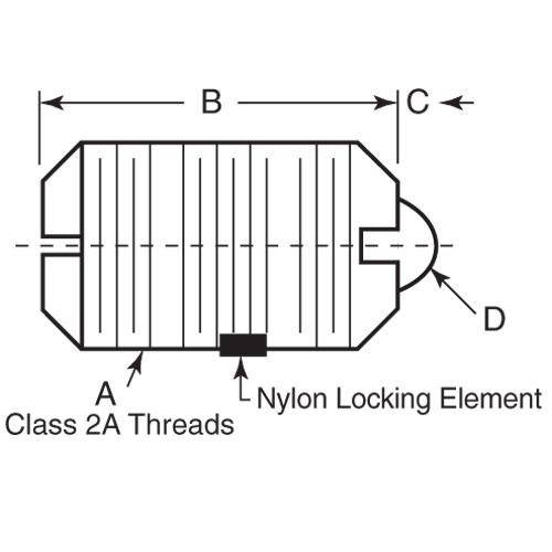 Diagram - Plungers - Spring - Threaded - Stainless-Acetal