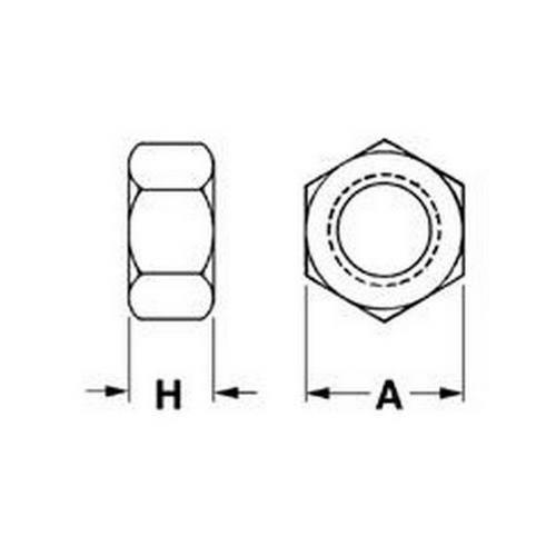 Diagram - Nuts - Hexagonal - Brass