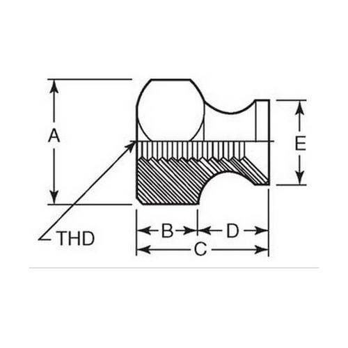 Diagram - Nuts - Hexagonal - Collar